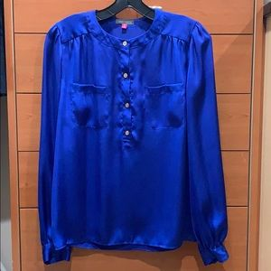Vince Camuto bright royal blue blouse top